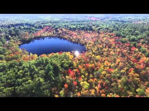 Fall Colors of the Assabet River Wildlife Refuge, Sudbury MA, Drone Footage (Full Flight)