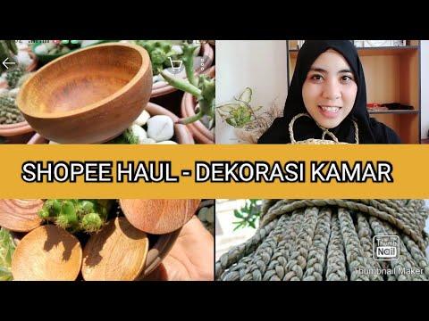 shopee haul - kamar aesthetic - youtube