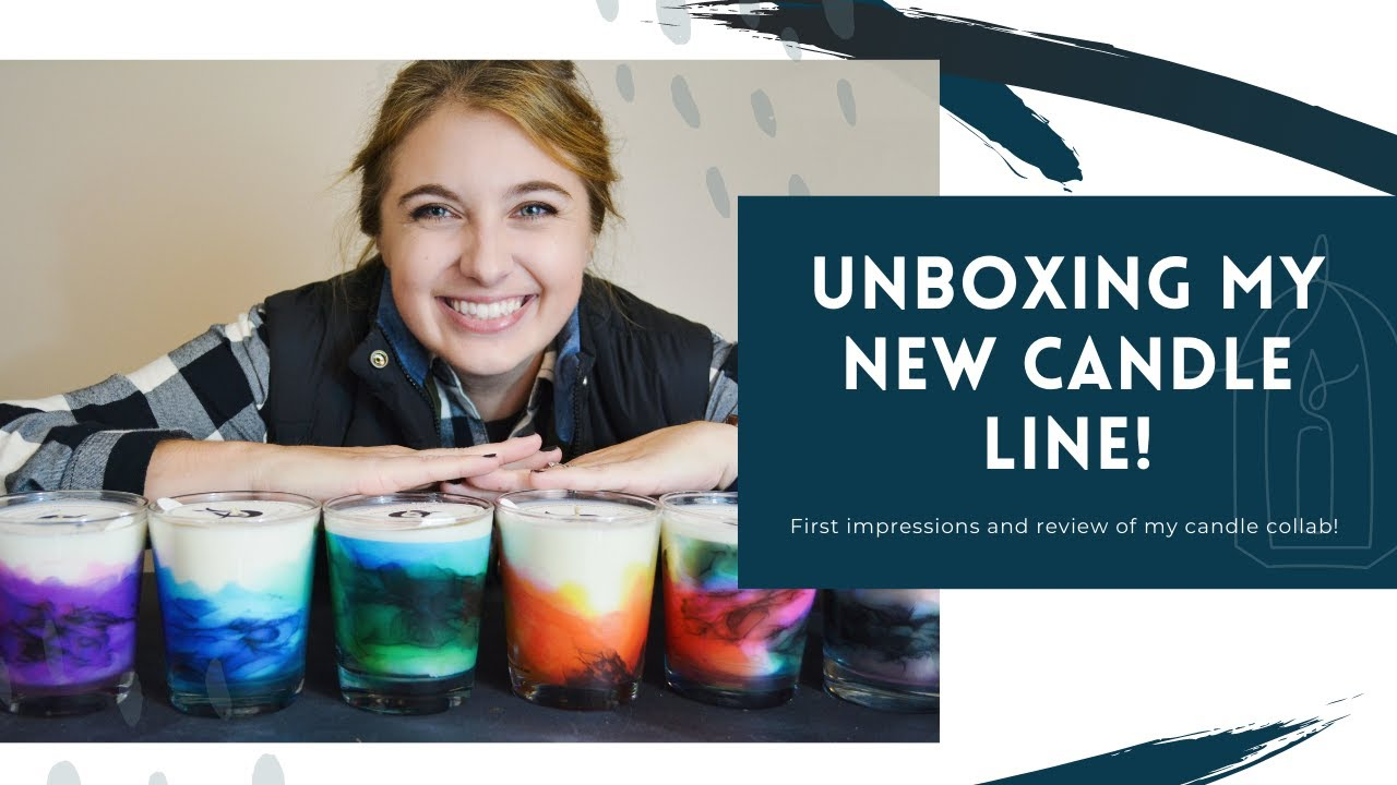 My Candle Line Unboxing and Review | Elizabeth Karlson Art x Artistscent |