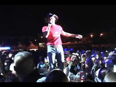 Tim McGraw performs concert at Marine Corps Base, Camp Pendleton, Calif.