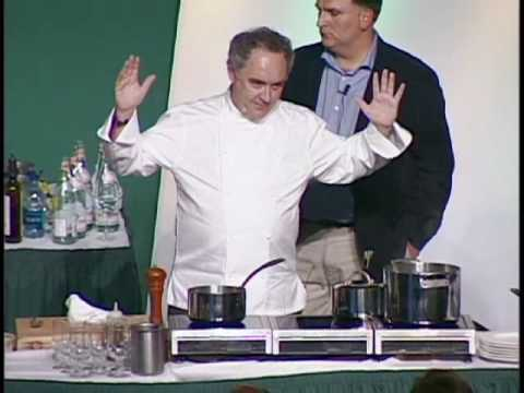 Ferran Adrià Cooking Demonstration at the Worlds Premier Culinary College