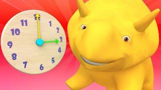 Lerne mit Dino - Lerne die Uhr und Minuten zu zählen mit Dino - Lehrreiche Cartoons für Kinder  🚚