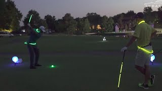 Jonathan Byrd and Max Homa night golf competition