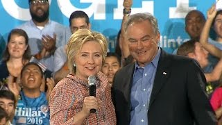 Why did Hillary Clinton pick Tim Kaine for VP?