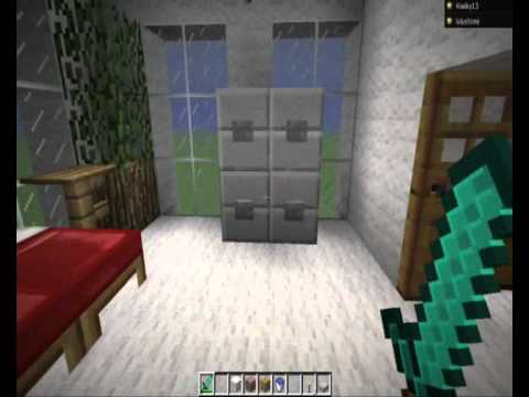 maison en laine spacieuse minecraft youtube. Black Bedroom Furniture Sets. Home Design Ideas