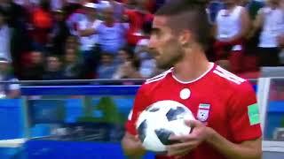 Longue touche improbable d'un joueur iranien