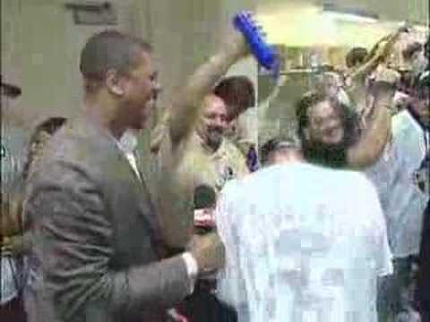 Jalen Rose On Best Damn Sports Show Heat Title Celebration!