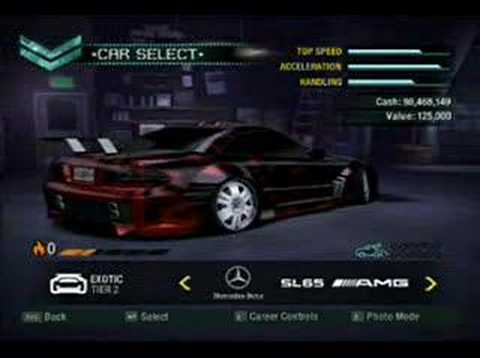 Nfs Carbon List Of All Cars