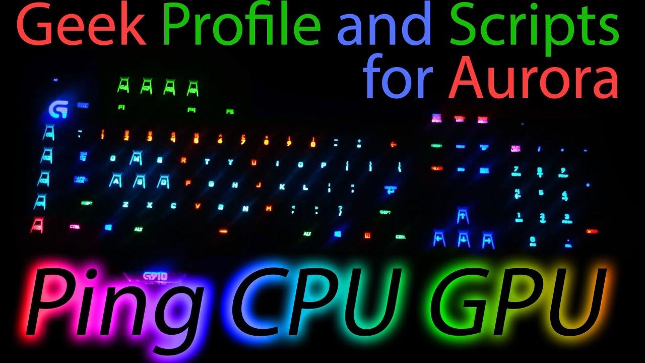 Voron Aurora profile scripts for Logitech G910 Orion Spark