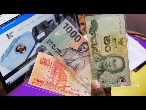 Banknote Unboxing Of Thailand & Singapore