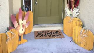 DIY - PALLET TURKEY & PUMPKINS OUT OF RECLAIMED WOOD - THANKSGIVING DECORATIONS