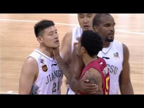 China Basketball Fight | Jabari Brown Choke | Ejection