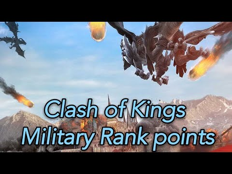 COK Clash Of Kings Cok  Military Rank Points