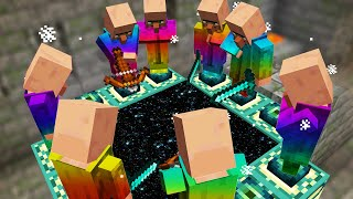Minecraft But Villagers Beat the game for you