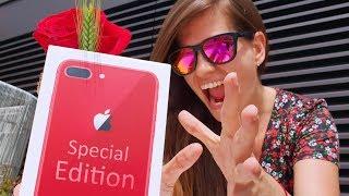 iPHONE 8 ROJO!! Unboxing romántico