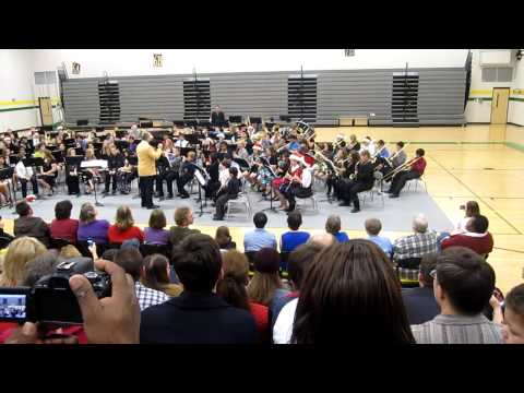 """Jingle Bells"" Whitworth Buchanan Middle School 6th Grade Band 2012"