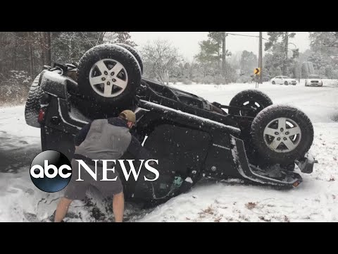 Heavy snow, thick ice hit parts of Midwest, Southeast US