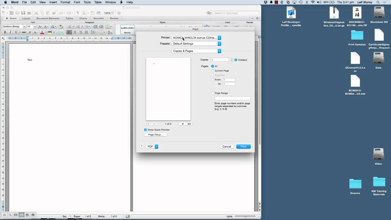 How do I print using Apple AirPrint from Mac OS X 10.7 or greater?