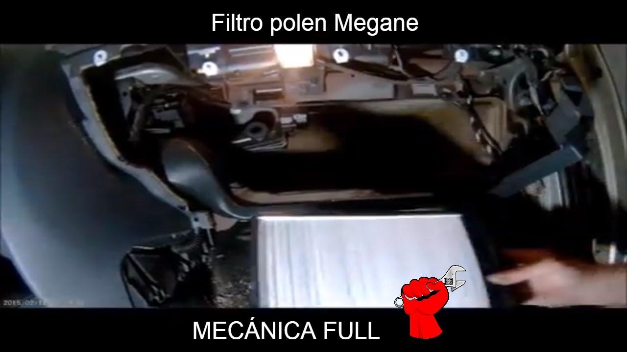 filtro polen Renault Megane - YouTube