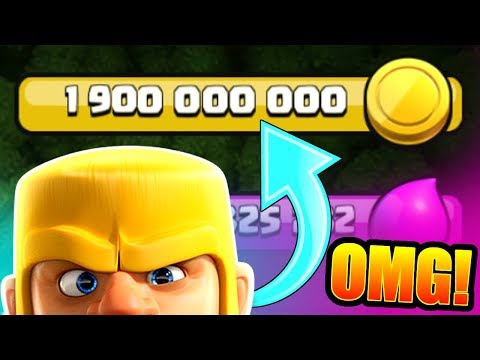 1.9 BILLION GOLD GRAB!! - Clash Of Clans - 2 BILLION COMING UP!
