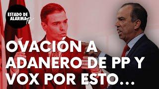 """García Adanero ovacionado en el Congreso por PP y Vox tras estas palabras: """"Ya están al otro lado…"""""""