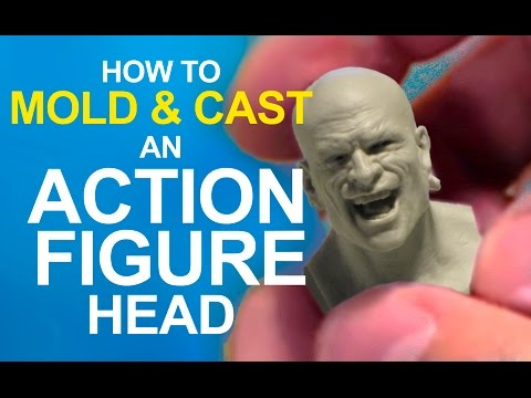 EASY! How to  MOLD & CAST an ACTION FIGURE head