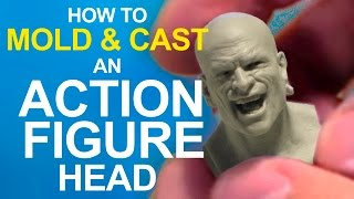 Easy! How To  Mold An Action Figure Head & Cast In Resin
