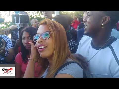 Estefany la rubia vs gaudy merci batalla de Freestyle ( chicas se desgreñan verbalmente en guibia)