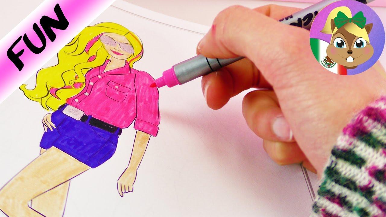 BARBIE para colorear/ Geniales estilos para Barbie/ Kathi colorea en ...