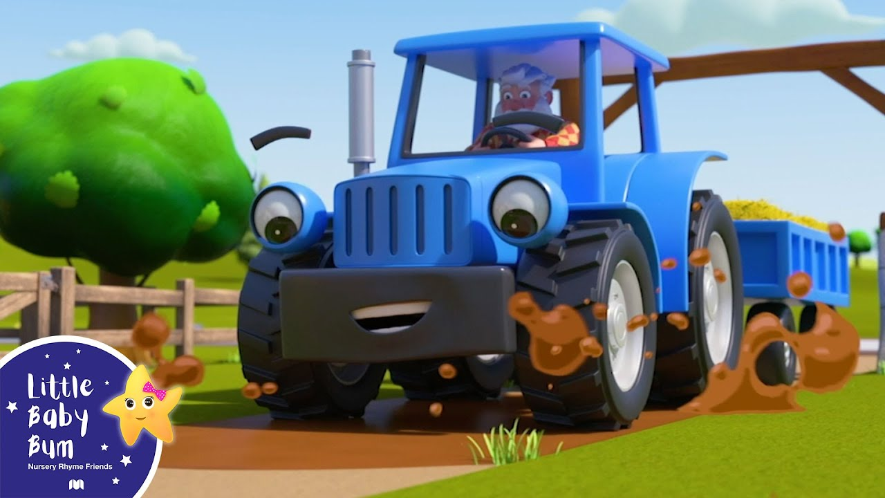 Wheels On The Tractor Animals Sounds | Little Baby Bum ABC Kids - Nursery Rhymes