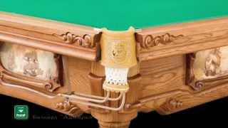 видео Купить бильярдный стол Седой Граф для русской пирамиды 8, 9, 10, 12 футов (от 204500 руб.) и для пула по лучшей цене