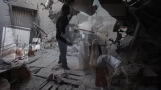 Последствия обстрела подсобного строения Макеевской горбольницы №5 (30.01.2017)
