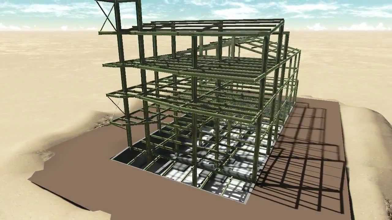 Estructura metalica revit lumion youtube - Casa de estructura metalica ...