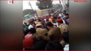 WATCH: The cash van Officer publically beaten by policemen in Mau