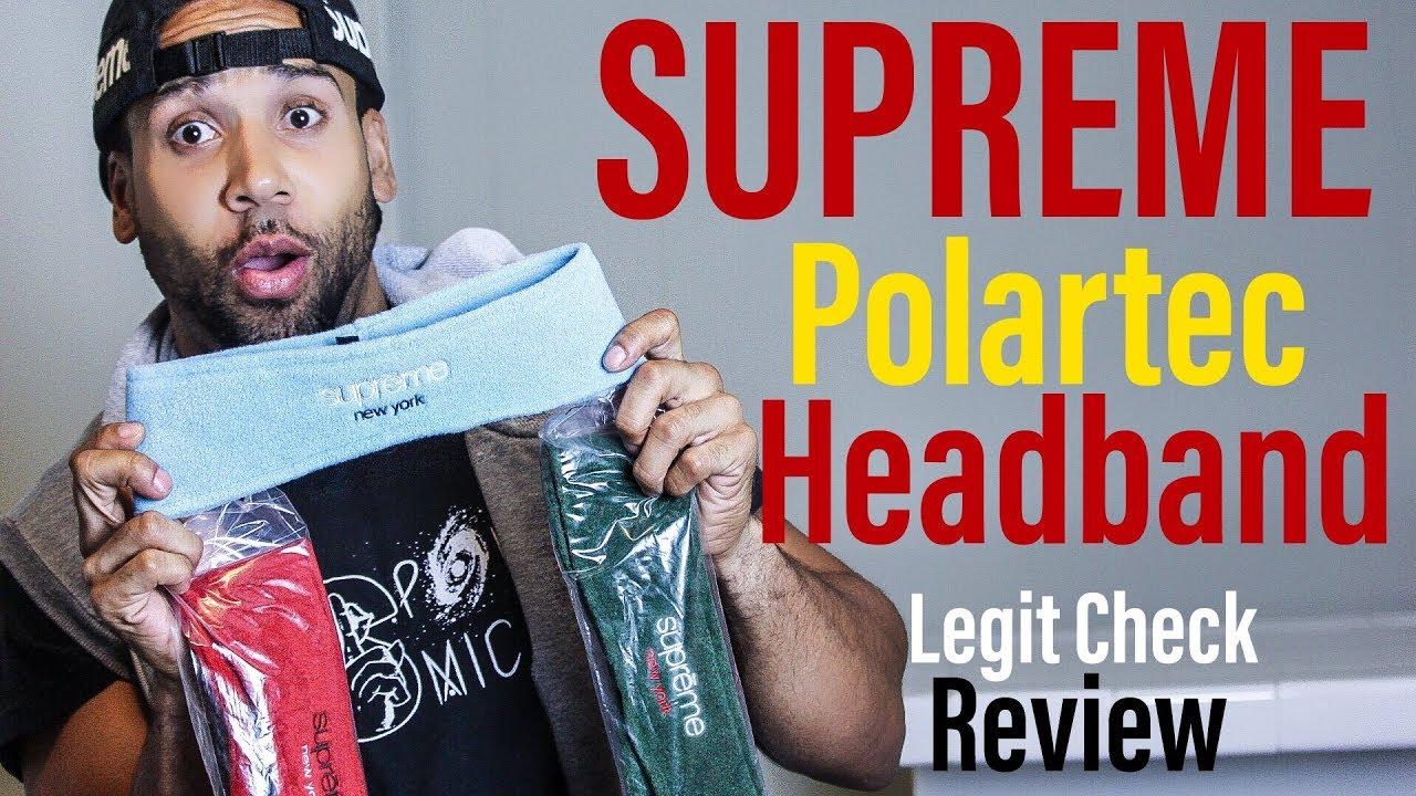 SUPREME POLARTEC HEADBAND LEGIT CHECK/REVIEW BY SUPREME PRINCE