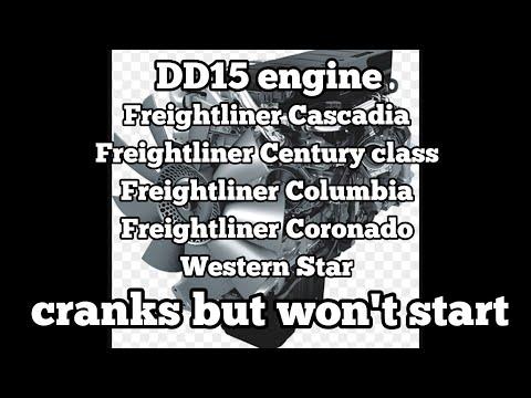 Freightliner Cascadia DD15 engine cranks but won't start