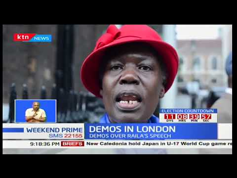 DEMOS IN LONDON: Pro-Raila, Pro-Uhuru groups meet