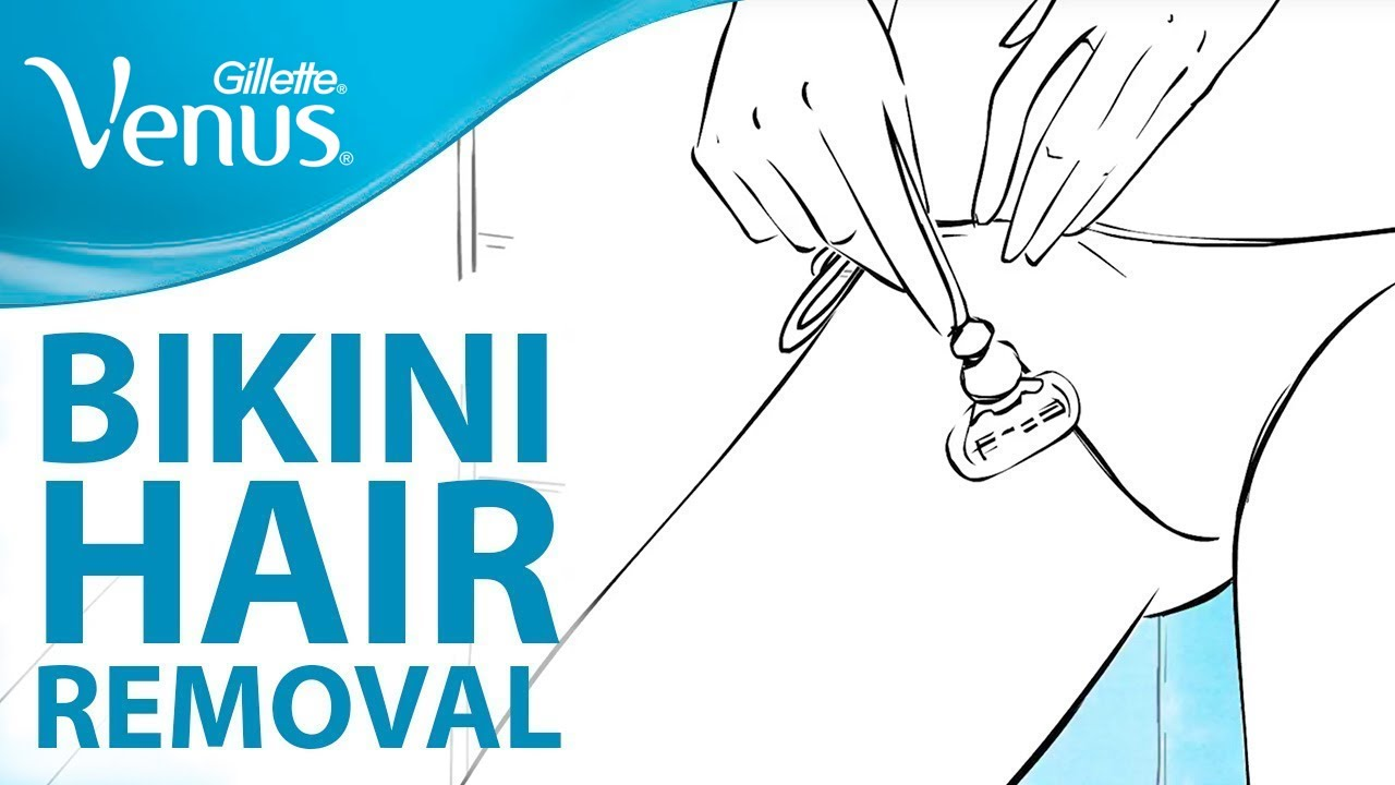 how to get a clean shave bikini area