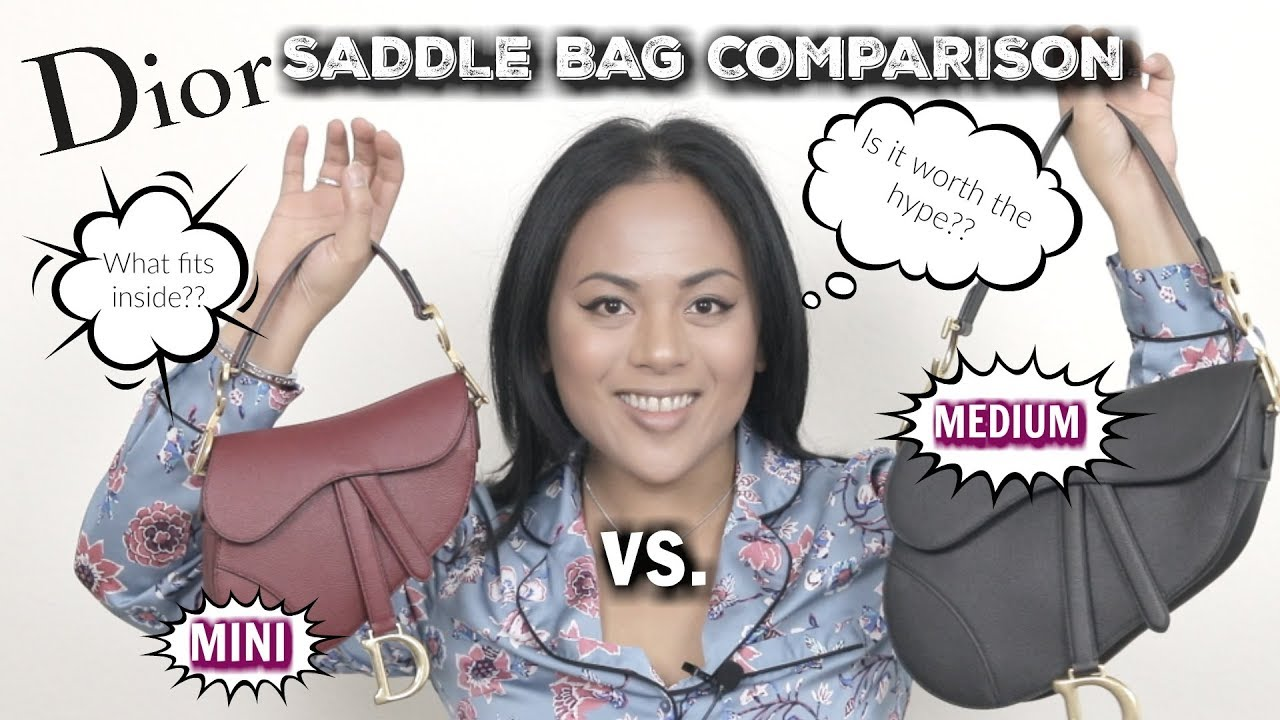 Christian Dior Medium and Mini Saddle Bag Comparison: Is It Worth The Hype?