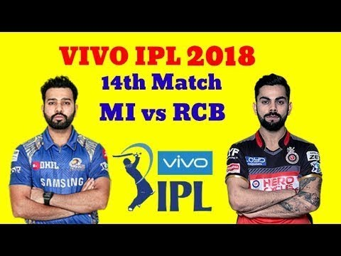 MI vs RCB IPL 2018 14th Match Playing11 Dream11 Team ( Mumbai Indians vs RCB 2018 ) IPL ON HOTSTAR