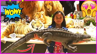 MOST REALISTIC STUFFED TOYS amp CUTE SOFT ANIMALS PLAY VIDEO for Kids Ira amp Bella Fun at ORBI Dubai