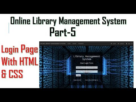 Online Library management system part 5 | Login page with html & CSS