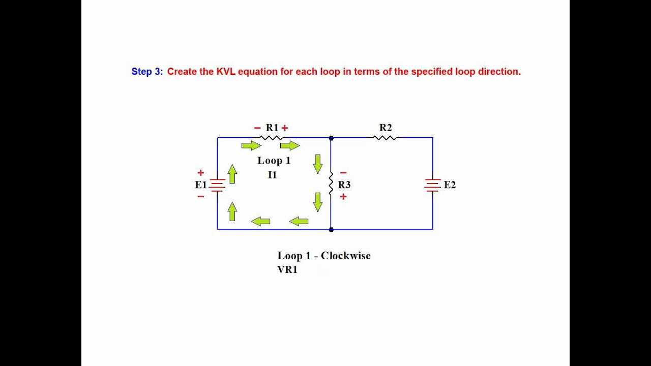 Online Tutorial On Loop Or Mesh Analysis on a Linear DC network ...