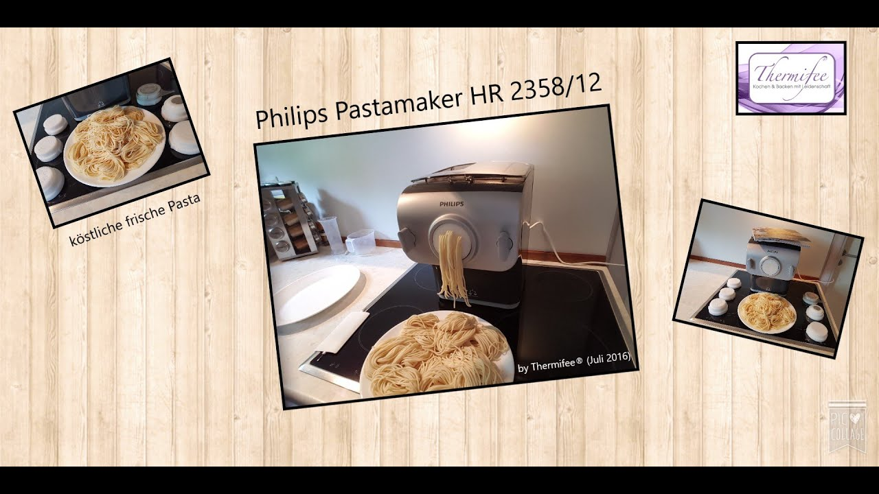 thermomix tm5 frische pasta aus dem pastamaker hr 2358 12 von philips youtube. Black Bedroom Furniture Sets. Home Design Ideas