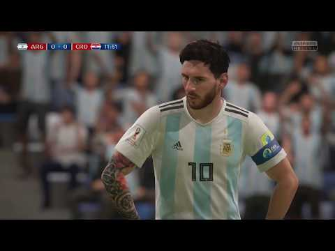 6f9a41124 World Cup 2018 - Argentina vs Croatia - Group D Full Match Sim (FIFA 18