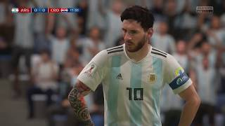 World Cup 2018 - Argentina vs Croatia - Group D Full Match Sim (FIFA 18)