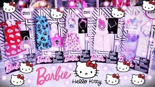 Barbie Hello Kitty  Najnowsza kolekcja Ubranka dla lalek  Openbox Ubieranki po polsku  4K