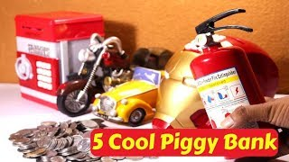 Top 5 Cool/Amazing Piggy/coin/ATM Bank for Kids | Unboxing toys in Hindi