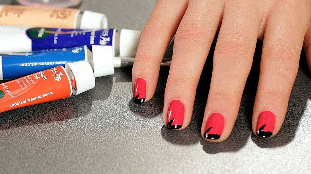 How To Do A Lightning Bolt With Tape Nail Art Designs