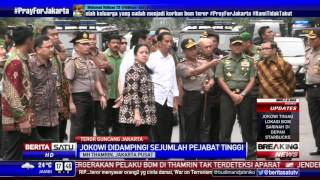 Presiden Jokowi Datangi Lokasi Ledakan di Sarinah